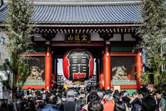 Entrance to Sensō-ji Temple. Asakusa, Tokyo.