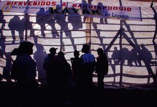 Mock bullfight, near Huancayo, Peru.