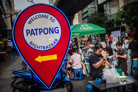 Patpong entertainment district. Bangkok.