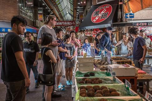 Kuromon Market. Nipponbashi, Osaka, Japan.