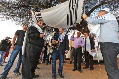 Hachnasat Sefer Torah. Gaborone, Botswana.