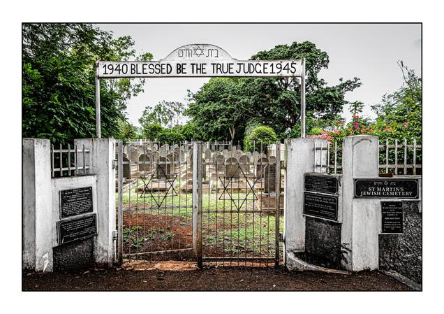 St. Martins Jewish Cemetery.   St. Martins, Mauritius.  Location of Beau Bassin Jewish Detainees burials.