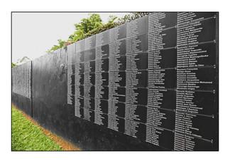 Wall of Names. Kigali Genocide Memorial Centre.   Kigali, Rwanda.