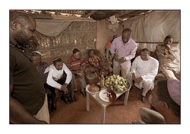 Community meeting at Tikvat Israel Synagogue.  Kubwa, Abuja, Nigeria.