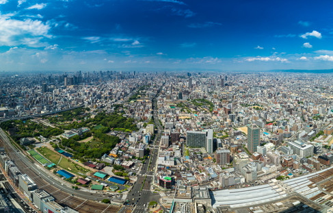 Osaka, Japan (from atop Abeno Harukas Tower, Tennoji).