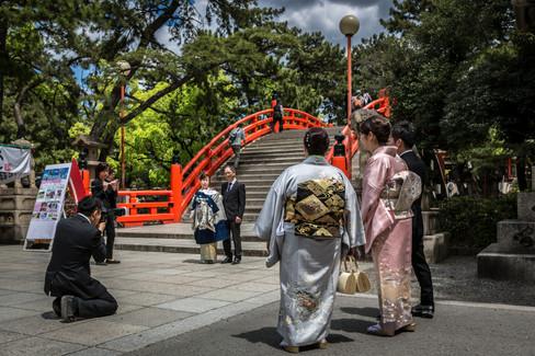 Sumiyoshi-Taisha Jinja Shrine. Osaka, Japan.