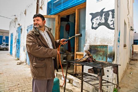 Kosher butcher. Hara Kebira, Djerba, Tunisia.
