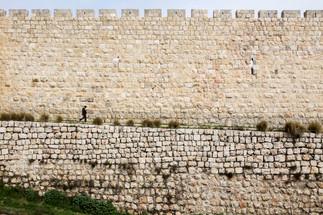 Ramparts. Old City, Jerusalem, Israel.