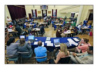 Mock UN debate on the Rwanda genocide, Parktown School for Girls.   Parktown, Johannesburg, Gauteng, South Africa.