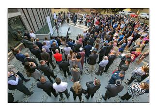 Dedication ceremony, Johannesburg Holocaust & Genocide Centre, September 2015.  Forest Town, Johannesburg, Gauteng, South Africa.