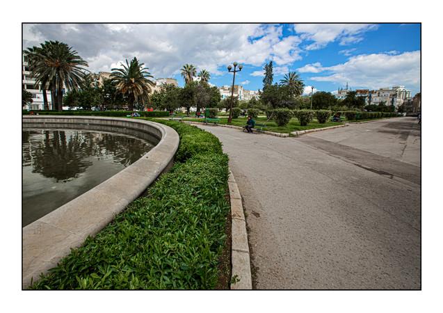 Parc Habib Thameur (created 1957), site of the original Jewish Cemetery of Tunis.   Tunis, Tunisia.