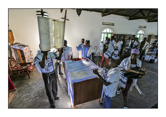 -- Abayudaya Jews --  Morning services, Moses Synagogue.  Nabugoye Village, Mbale, Uganda.