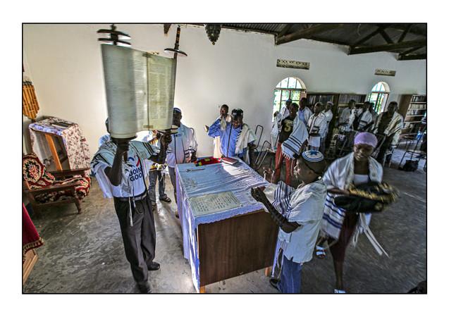 -- Abayudaya Jews --  Morning services, Moses Synagogue.  Nabugoye Village, Mbale, Uganda.