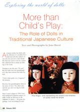 Photos and text. Dollmaking Magazine (USA)