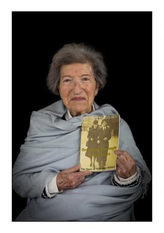 Madeleine Heitner Lopato (Poland), Holocaust survivor.    Johannesburg, Gauteng, South Africa.   Madeleine passed away in April 2019.