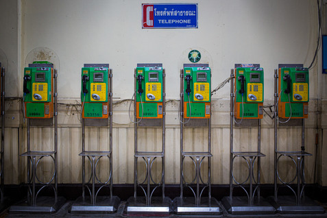 Telephones. Bangkok Train Station. Bangkok.