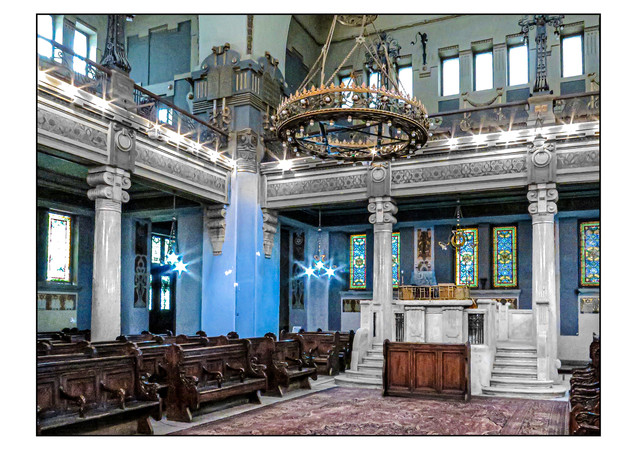 Sha'ar Hashamayim Synagogue (aka Temple Ismailia and the Adly Street Synagogue).  Cairo, Egypt.