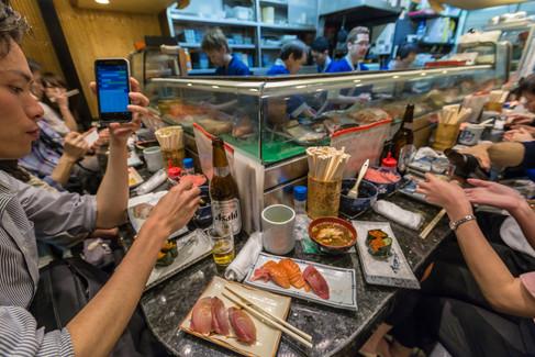 Harukoma sushi. Temma, Osaka, Japan.