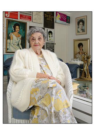 Santa Pelham (Germany), Holocaust survivor.  Cape Town, Western Cape, South Africa.   Santa passed away in December 2015.