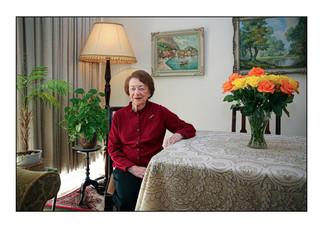 Miriam Marysia Lichterman (Poland), Holocaust survivor.    Cape Town, Western Cape, South Africa.