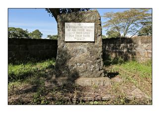 Holocaust memorial. Nakuru Jewish Cemetery.  Nakuru, Kenya.