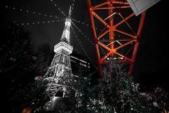 Model of Tokyo Tower beneath Tokyo Tower. Minato, Tokyo.