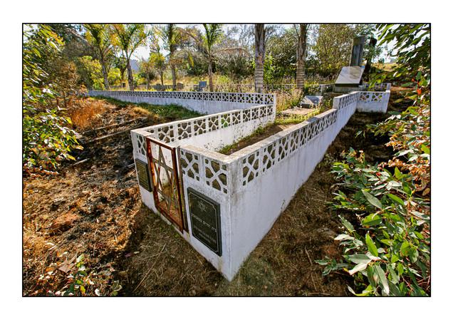 Mbabane Jewish Cemetery.   Mbabane, Kingdom of Swaziland (eSwatini).