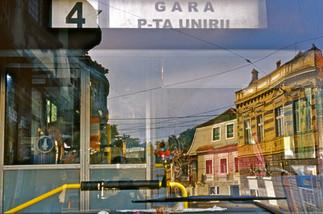 Bus window. Brasov, Romania.