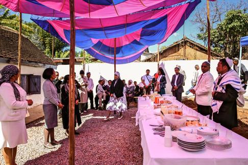 Kiddush, Shacharit (morning) service, Beit HaTefilah Israel. Antananarivo, Madagascar.