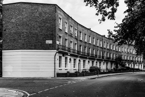 Houses, Goldington Crescent, near King's Cross