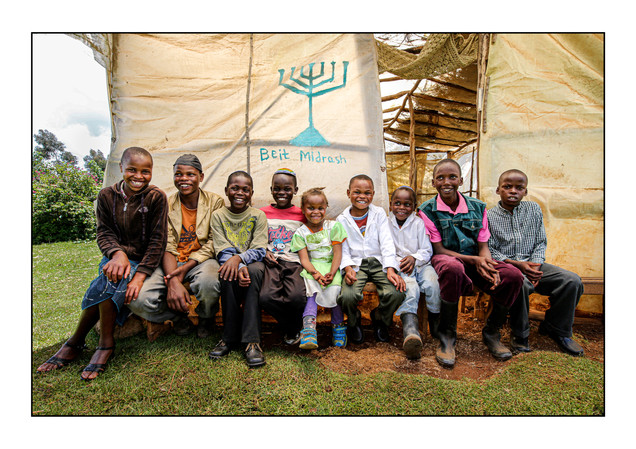 Children of the Kasuku Jewish Community.  Kasuku, Ol Kalou, Nyandarua, Kenya.