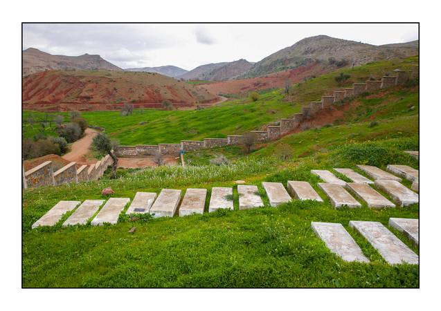 Jewish Cemetery.  Bzou, Morocco.