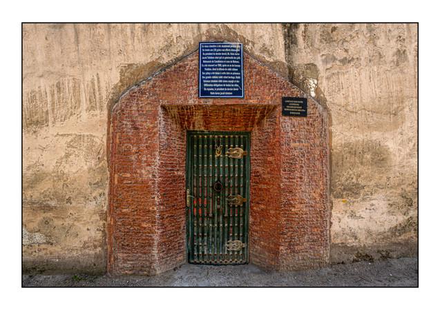 Main entrance, Jewish Cemetery.  Meknes, Morocco.