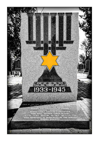 Holocaust memorial, New Jewish Cemetery.  Kimberley, Northern Cape, South Africa.