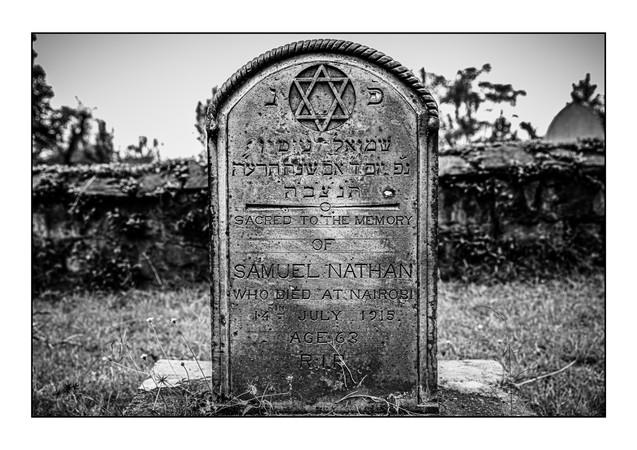 Nairobi South Jewish Cemetery (old Jewish cemetery).  Nairobi, Kenya.