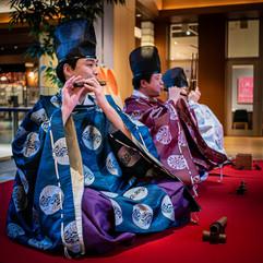 Gagaku (traditional Japanese music). Tokyo Midtown, Minato, Tokyo.