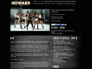 Syncopated Ladies announce DC concert at The Howard Theatre - 12/19