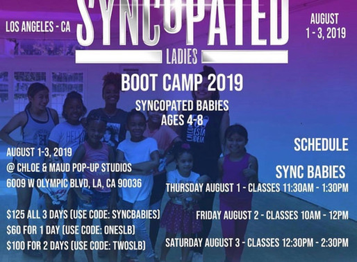 Syncopated Ladies Boot Camp 2019