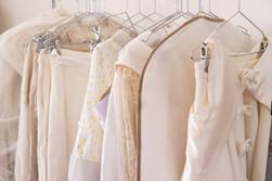 Robes de mariées créées à l'Atelier C'Prime. Création personnalisée et sur mesure en tissus Bio