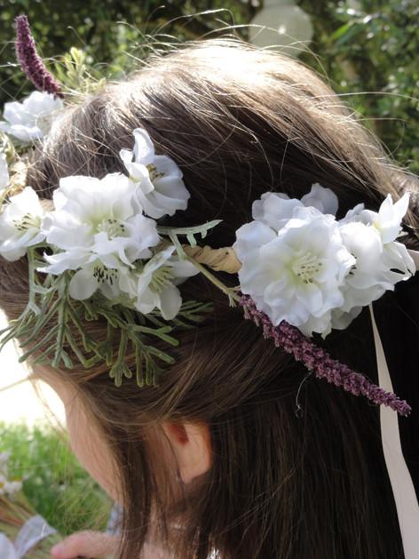 Couronne de fleurs intemporelles