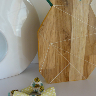 Statuette ananas & son duo de barrette