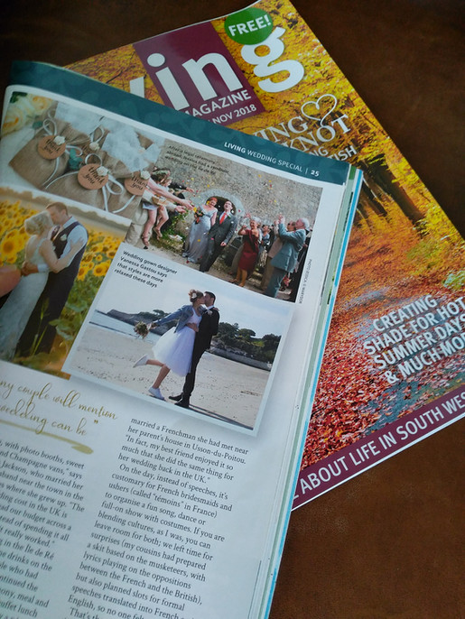 Dossier mariage LivingMag oct.nov.Citations & photos de créations.Thank you!