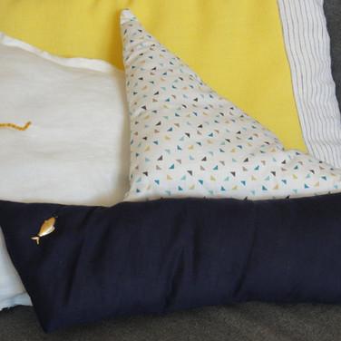 Coussin coton - Petit navire
