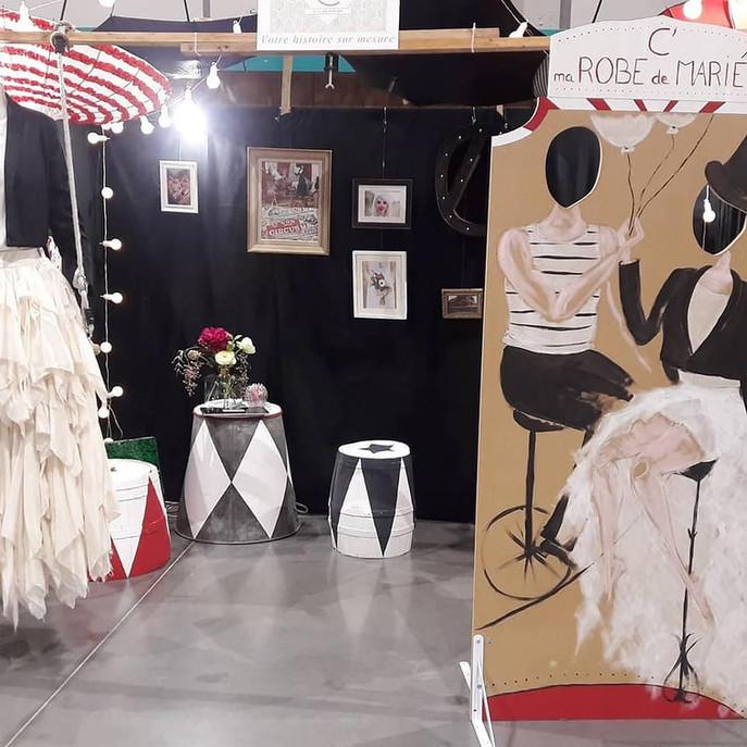 Stand de l'Atelier C'Prime au salon du mariage d'Angoulême 2020