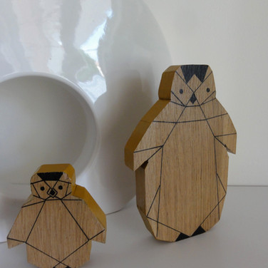 Pingouins en duo origami