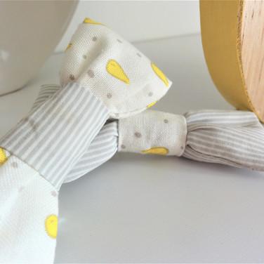 Duo de barrettes noeud sur pince croco - Gouttes