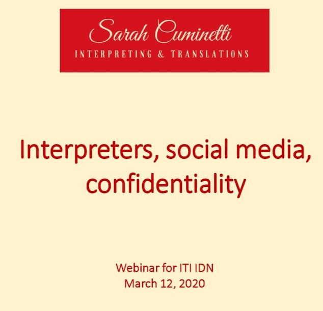 Social media & confidentiality