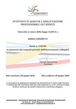 Assointerpreti Quality certification
