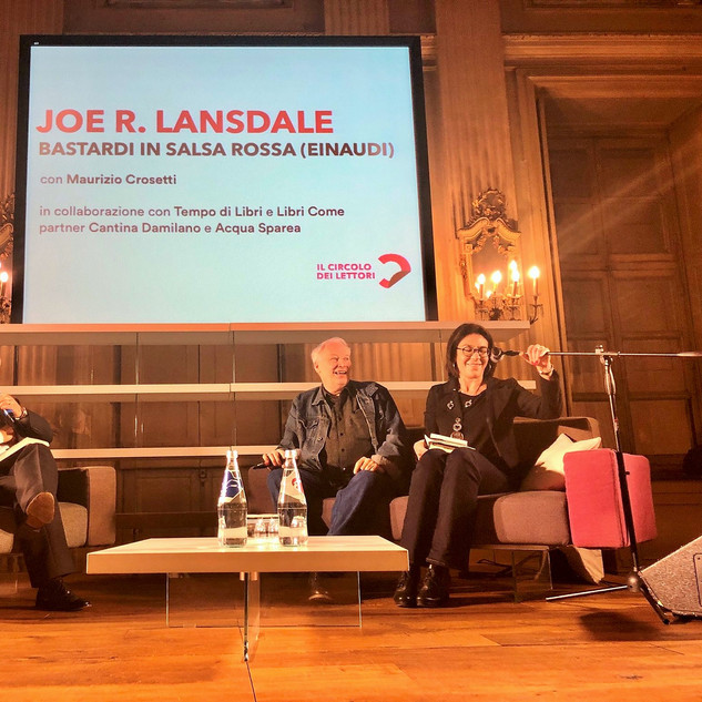 Joe Lansdale with M. Crosetti