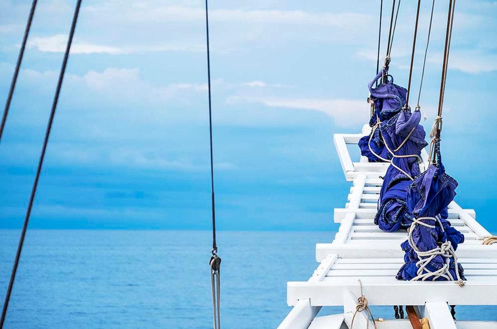 Schooner sailing, Indonesia